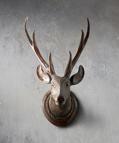 Wood Deer Head