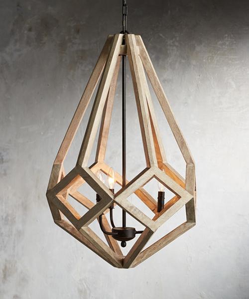 Wooden Prism Chandelier