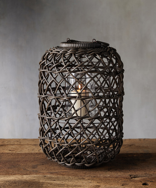 Outdoor Wicker Lantern