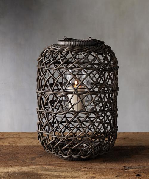 Outdoor Wicker Lantern
