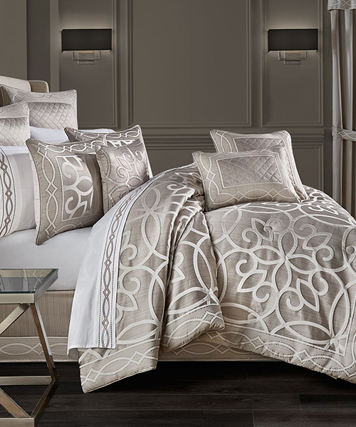 J Queen New York Luxury Silver Bedding