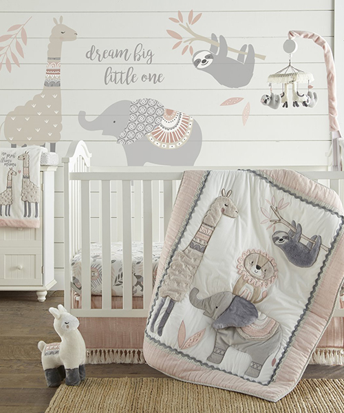 Imani Baby Girl Safari Bedding