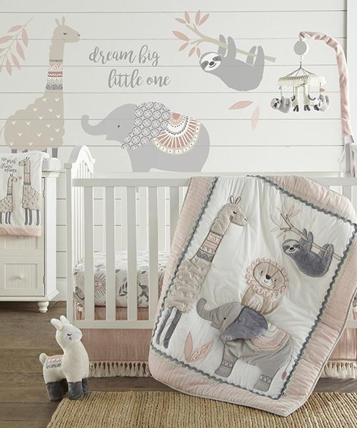 Imani Baby Girl Safari Bedding