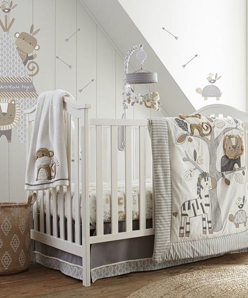 Baby Boys Crib Bedding   Levtex Kenya Collection