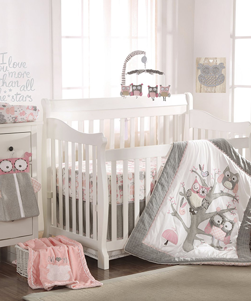 Levtex Owl Crib Bedding