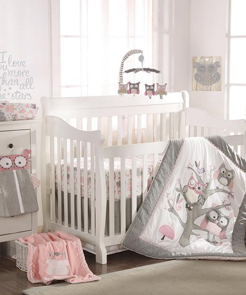 Levtex Owl Crib Bedding