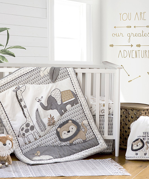 Boys Crib Safari Bedding