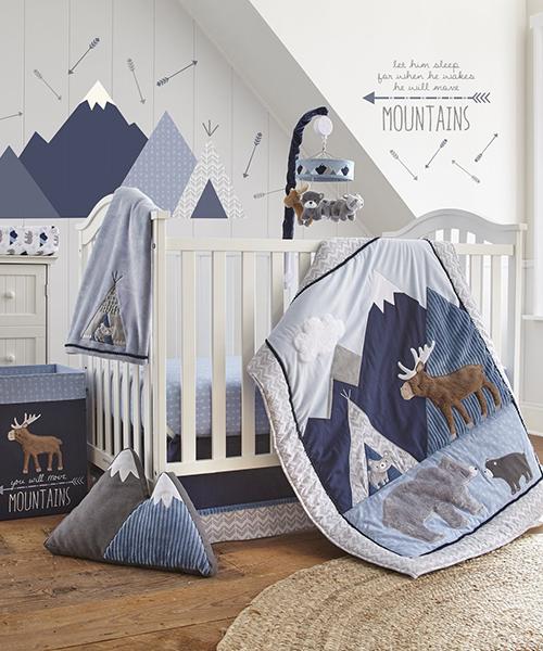 Boys Rustic Baby Bedding