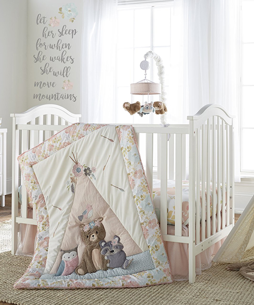 Baby Girl Woodland Bedding