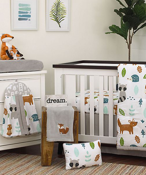 NOJO Woodland Baby Bedding | Boys Nursery Bedding