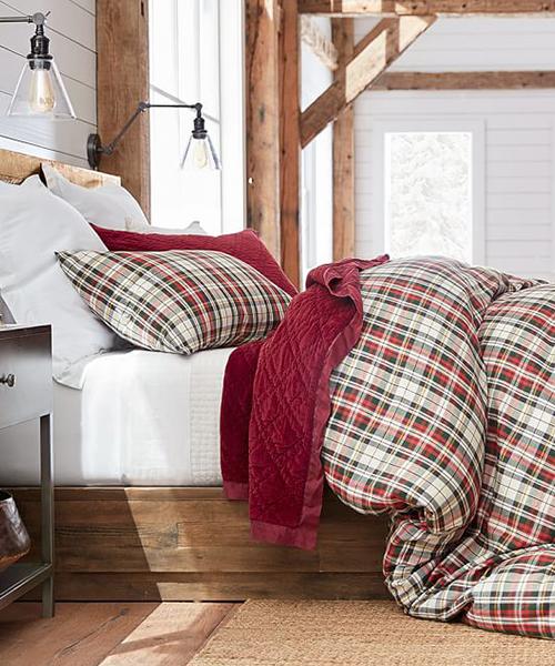 Christmas Plaid Bedding