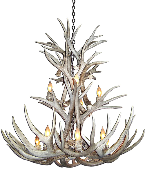 Extra Large Mule Deer Chandelier