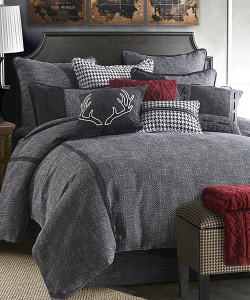 Hamilton Gray Rustic Bedding