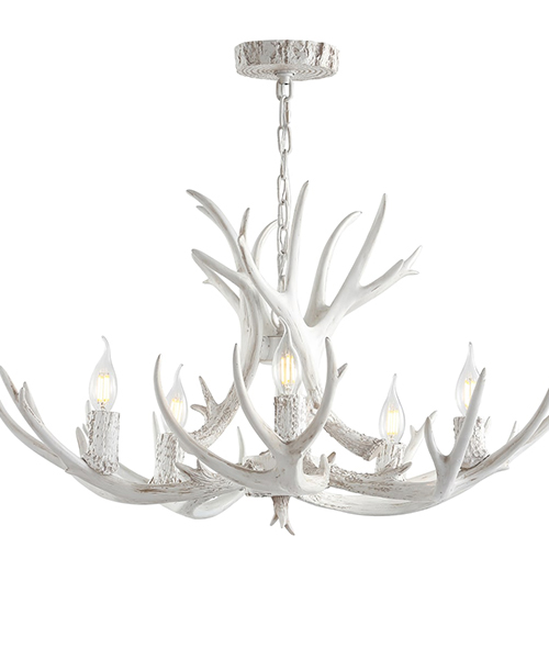 Jonathan Y White Antler Chandelier