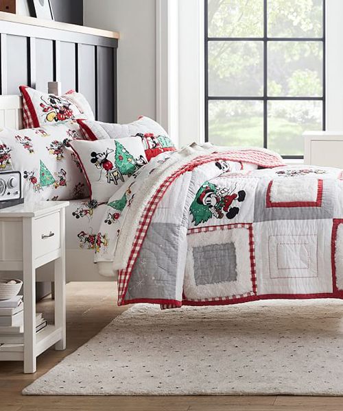 Mickey Mouse Christmas Bedding | Disney Holiday Bedding