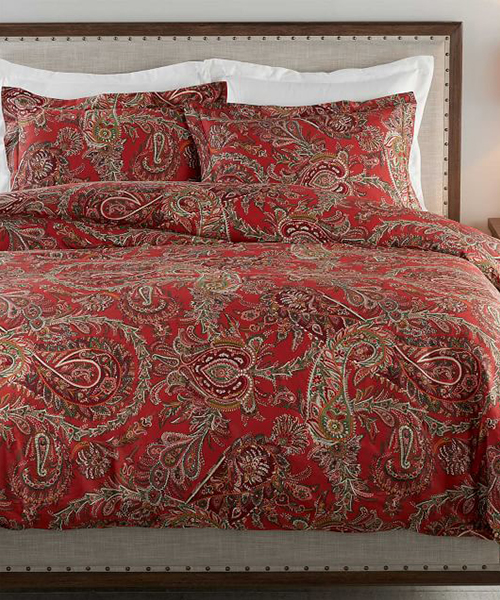Red Paisley Bedding