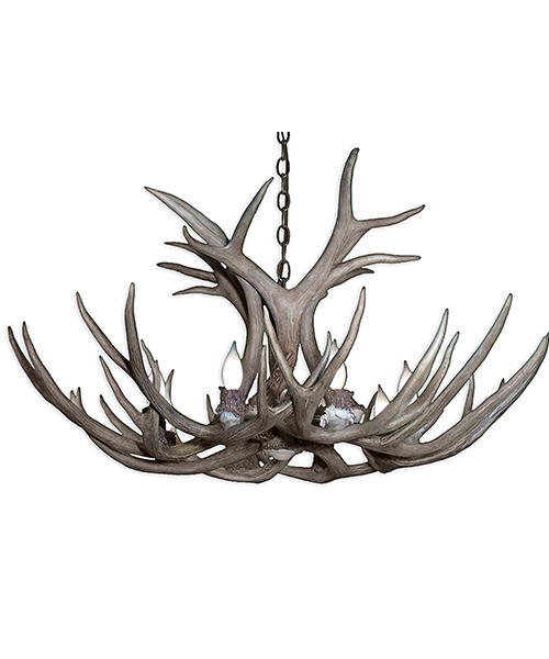 Real Antler Mule Deer Chandelier