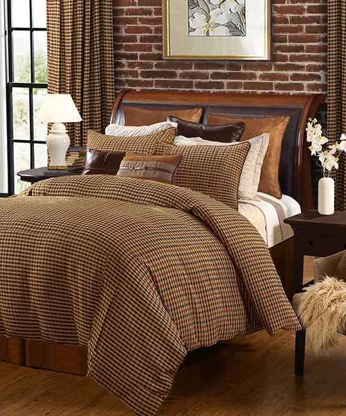 Rustic Houndstooth Bedding