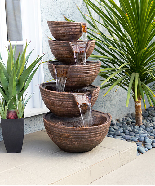 Bowl Waterfall Fountain