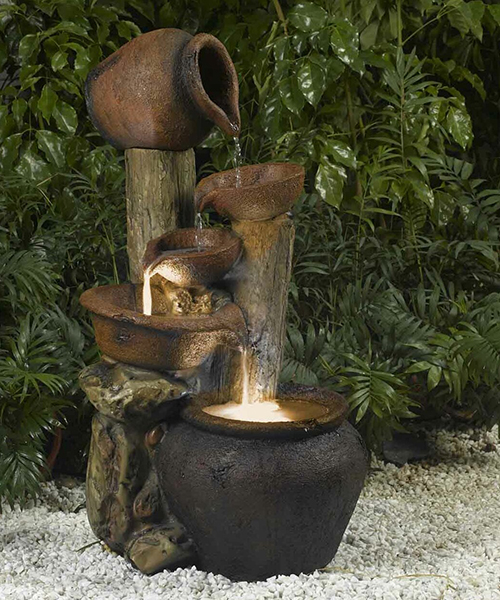 Pot Fountain with Light