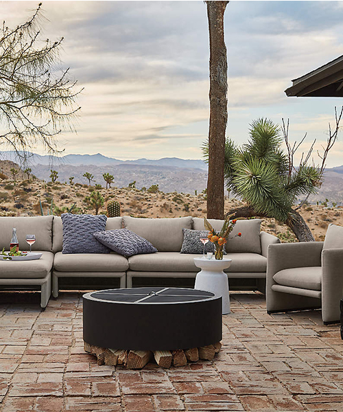 Hideaway Black Round Fire Pit