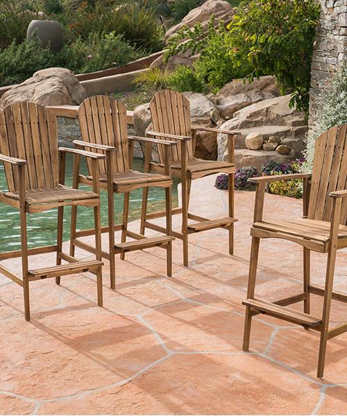 Outdoor Wood Barstools