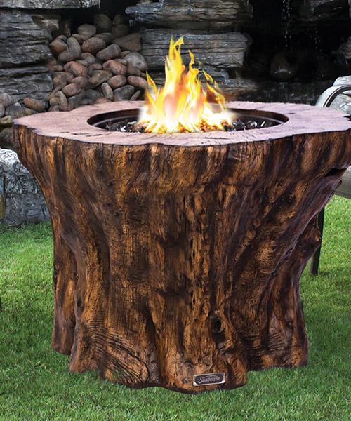 Rustic Concrete Fire Pit Table