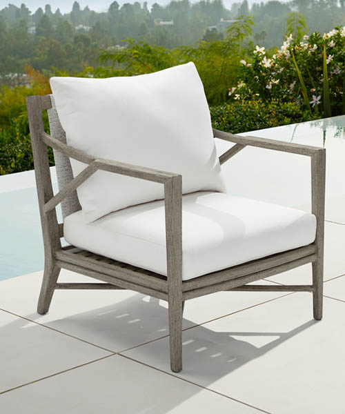 Alta Modern Rustic Outdoor Lounge Chair