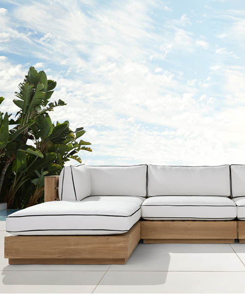 Bal Harbour Outdoor Teak Sectional