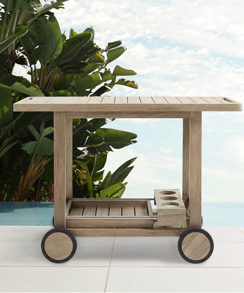 Hamptons Modern Rustic Bar Cart