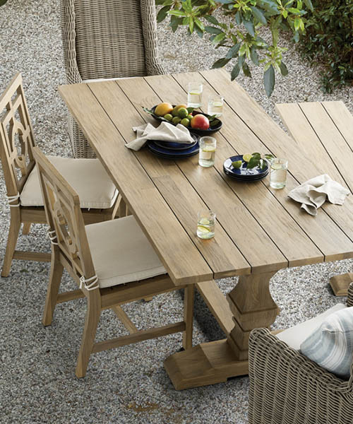 Hamptons Modern Rustic Outdoor Dining Table