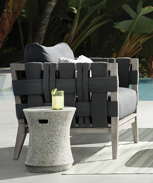 Malang Black Outdoor Lounge Chair