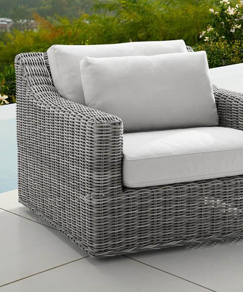 Montauk Outdoor Swivel Chair