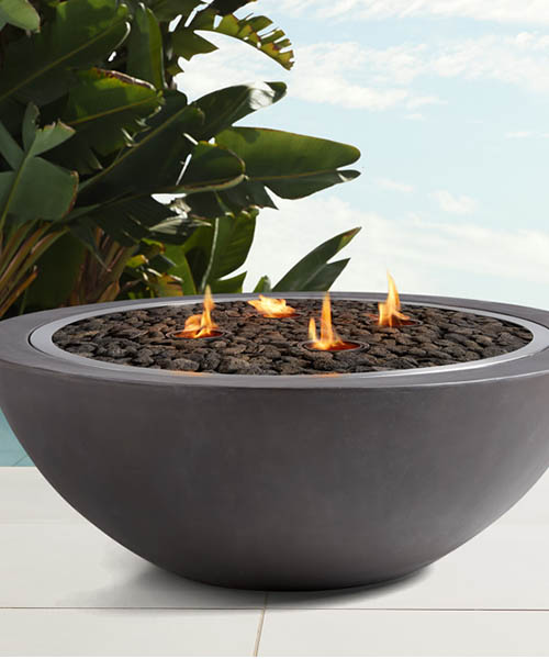 Outdoor Grey Round Fire Pit