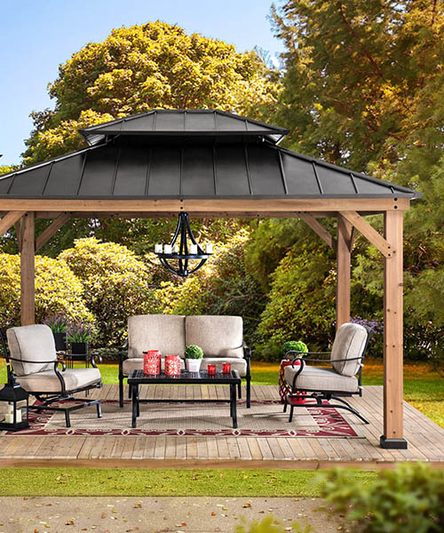Solid Wood Gazebo