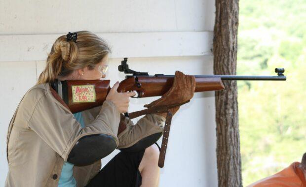 Elizabeth at rifle
