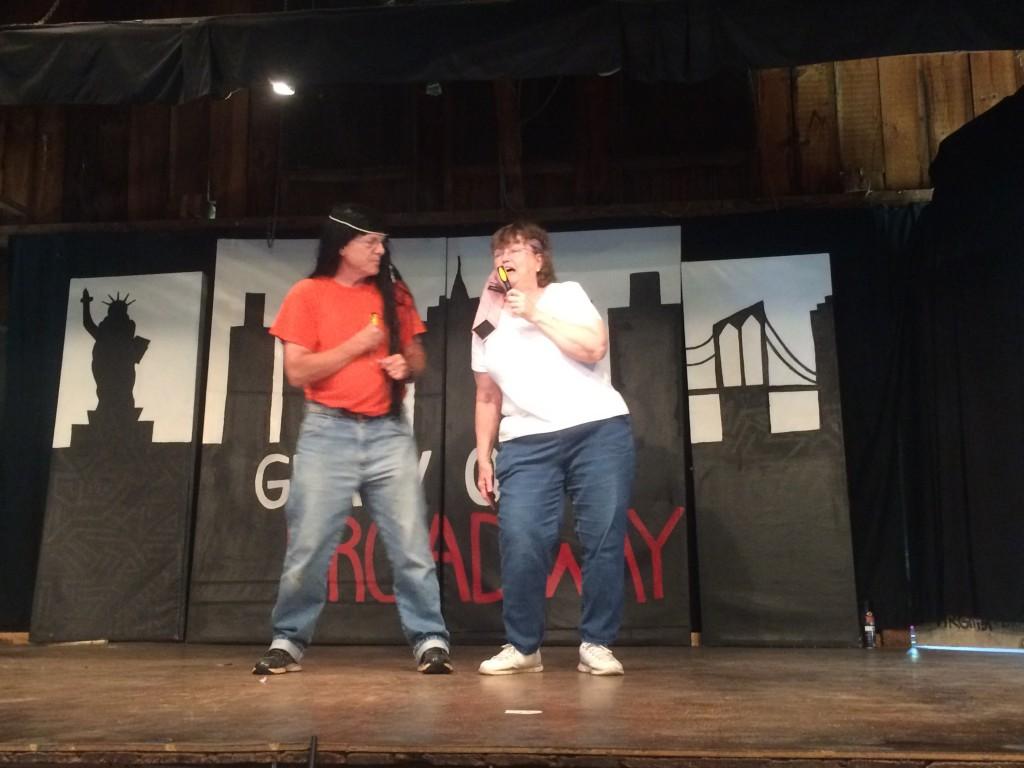 Sam and Bonnie Dawson playing Sonny & Cher in a skit