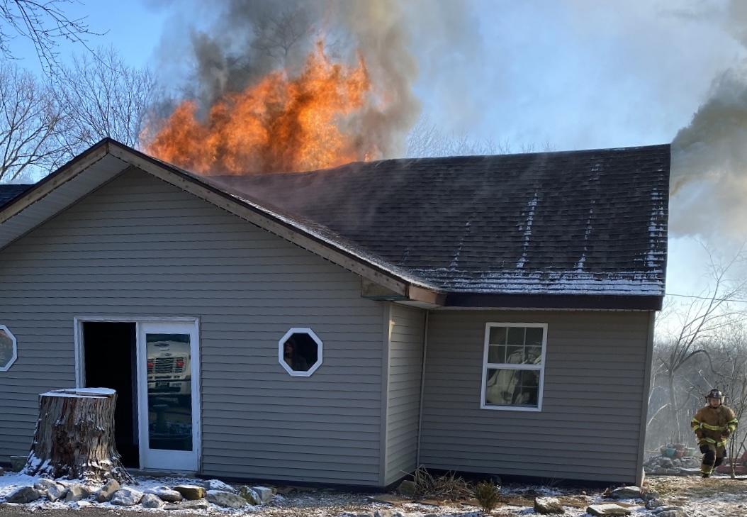 House Fire in Spottsville