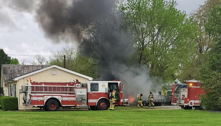 HFD Responds to Shed Fire on Madison Street