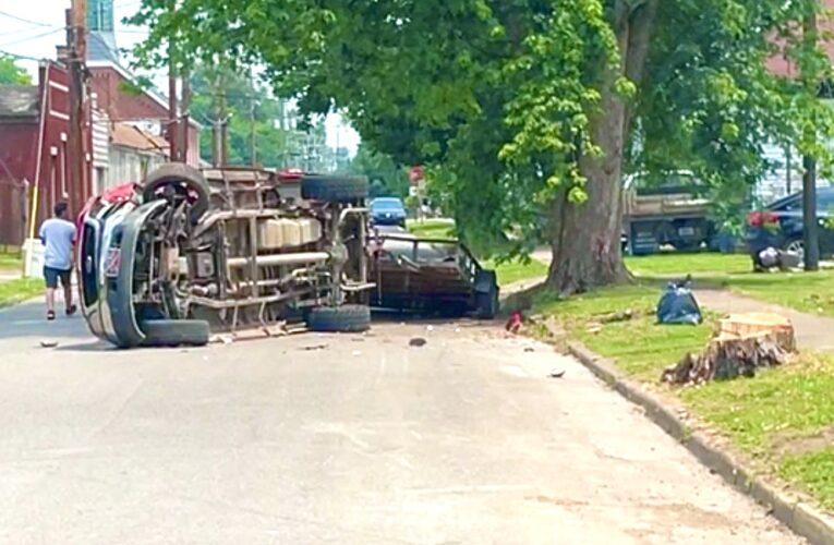 Rollover Truck Reported Stolen