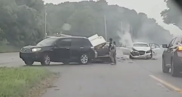 DashCam Footage: Multiple Vehicle Collision Tuesday