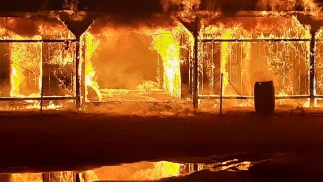 Ellis Park Horse Barn Fire Presumed Electrical