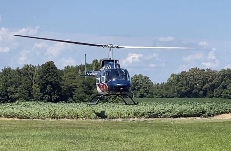 Medical Helicopter Responds to ATV Crash