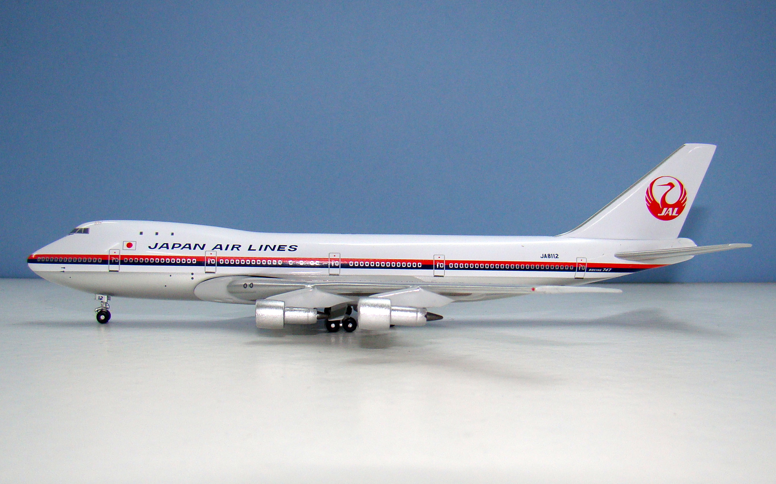 Japan Air Lines Boeing 747-146 JA8112 Apollo 1:400 Scale Model Airliner