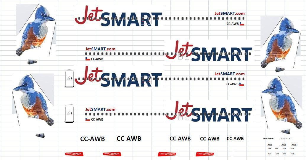 JetSMART completed decal sheet