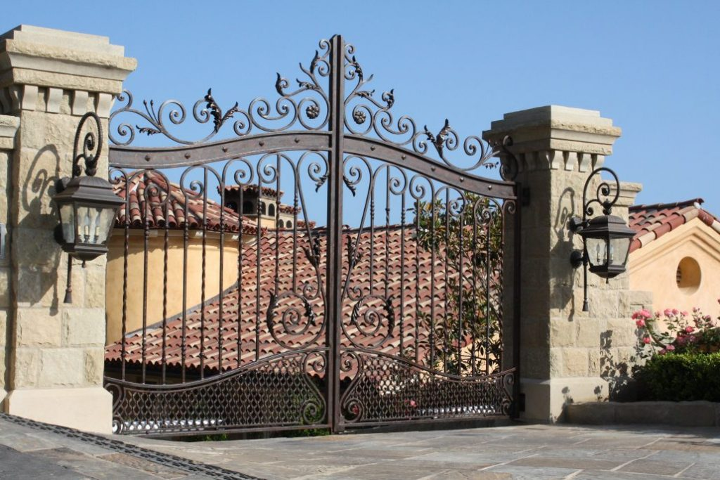 custom wrought iron gate design