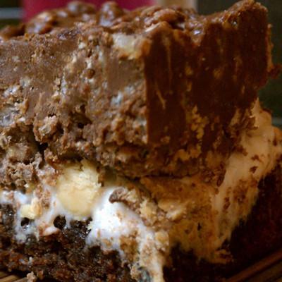 Crispy Gooey Brownie Treats