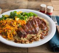 Jamaican BBQ Beef Sirloin with Quinoa