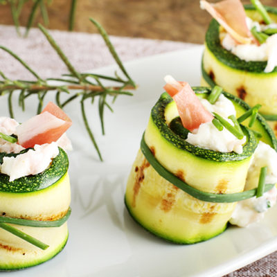 Rolled Stuffed Zucchini with Herbed Cheese