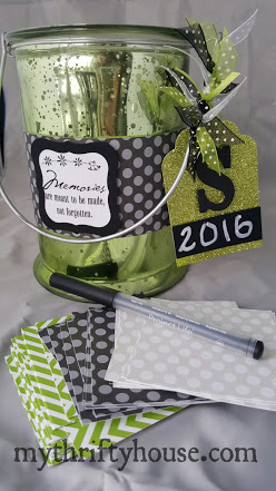 Glass Paint Can Memory Jar
